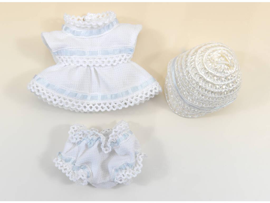 Mini Conjunto Branco e Azul com Chapéu
