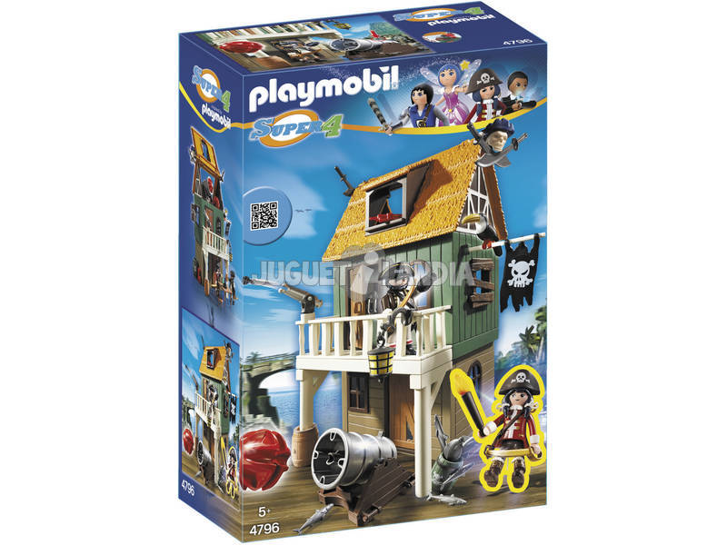 Playmobil Super 4 Forte Pirata Camuflado Ruby
