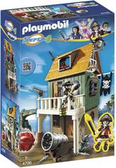 Playmobil Super 4 Fort Piraten getarnt Rubin