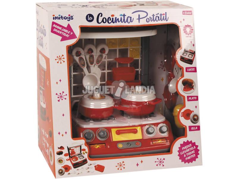 Cocina de Juguete Portátil con Luz y Sonidos