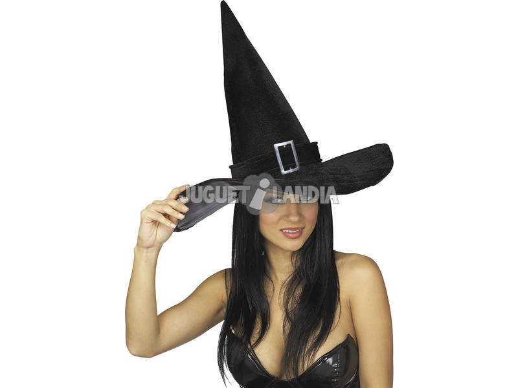 Sombrero de Bruja con Hebilla Rubies S5250