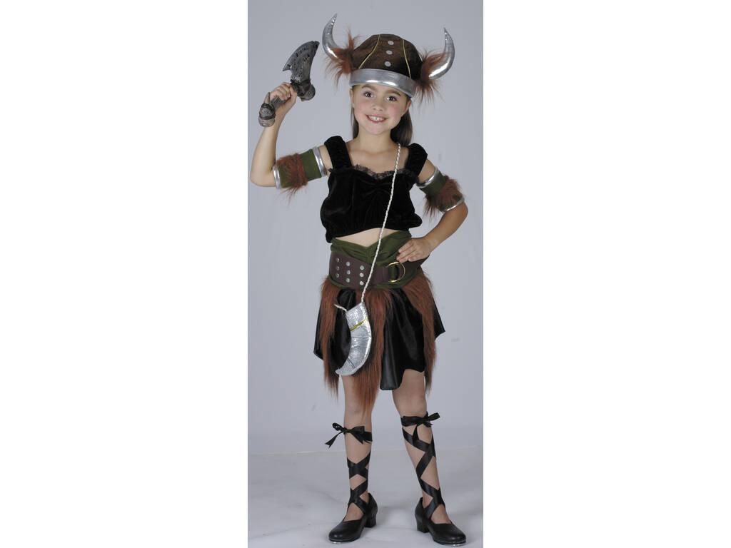 Disfraz Vikinga Niña Talla S