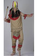 Maschera Indiano Uomo Det. Leopardo Taglia XL.