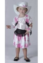 Disfraz Vaquera Blanco Bebé Talla L