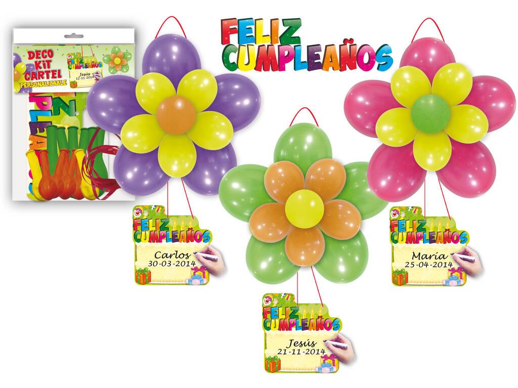 Deco Kit Cartel Feliz Cumpleaños