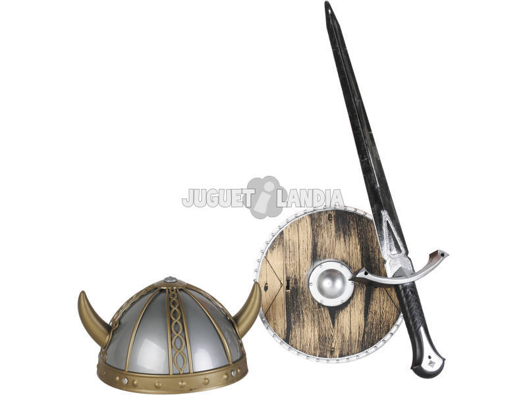 Set Vikingo con Spada, Scudo ed Elmetto