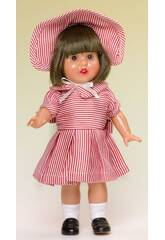 imagen Mini Mariquita Pérez Vestido Listrado Branco e Vermelho