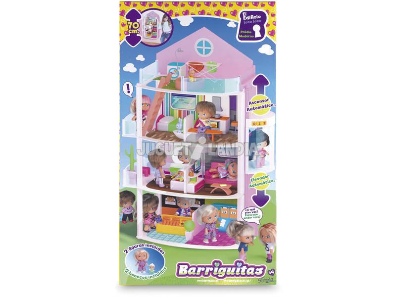 Bonecas Barriguitas Edifício Loco Loco 3 Figuras e Acessórios 35x12x65 cm Famosa 700012396