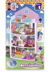 Puppen Barriguitas Gebäude Loco Loco 3 Figuren und Zubehör 35x12x65 cm Famosa 700012396