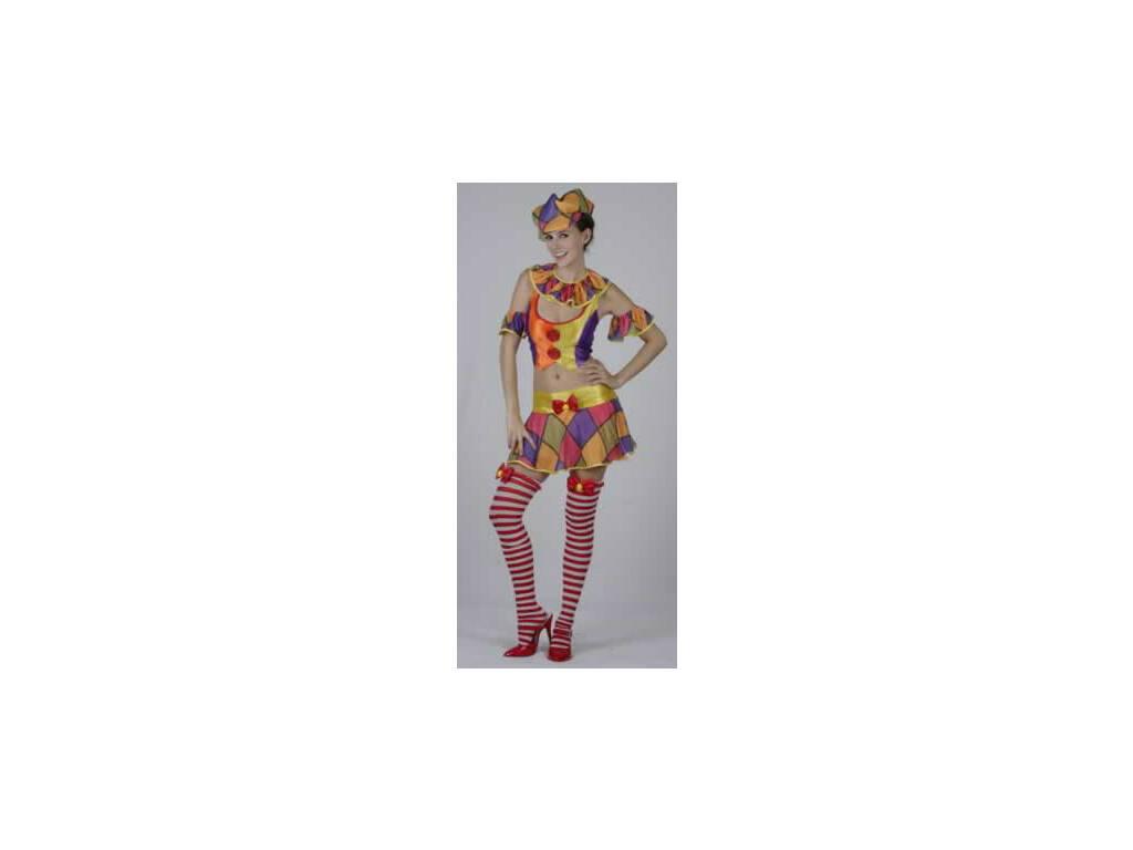 Disfraz Payasa Falda Corta Mujer Talla XL