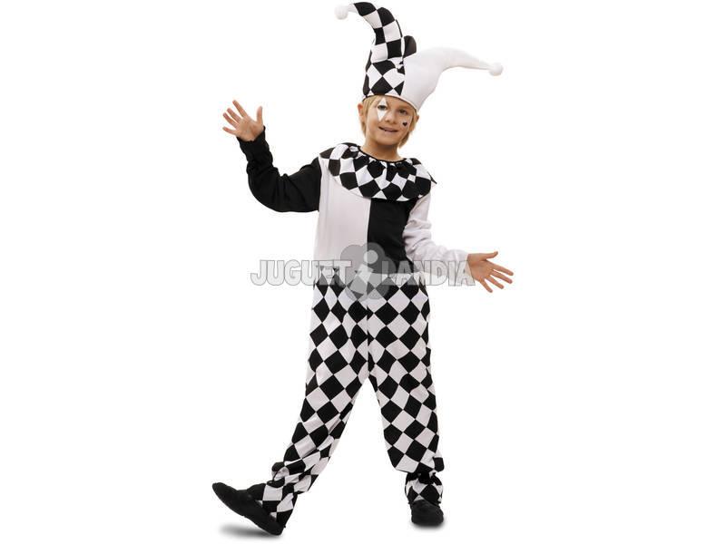 Costume Arlecchino Bimbo Bianco e Nero S