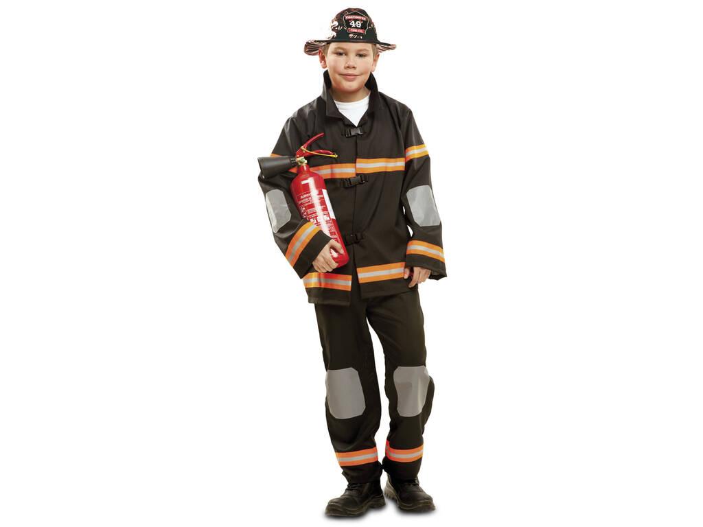 Disfraz Niños L Bombero Negro
