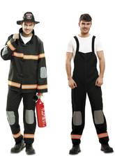 Costume Uomo S Pompiere Nero
