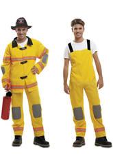 Maschera Uomo XL Pompiere Giallo