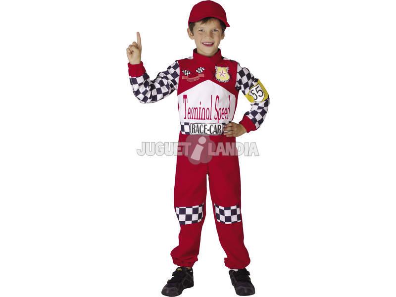 Disfraz Piloto F-1 Rojo Niños Talla M