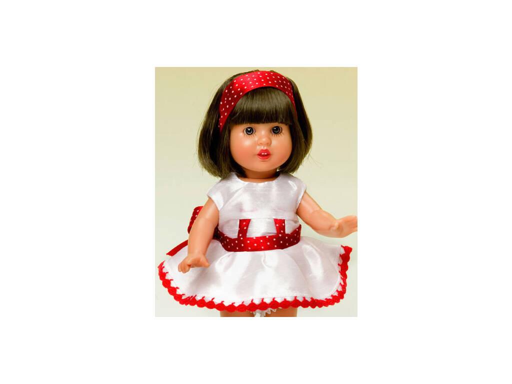 Mini Vestido Shantung Branco e Vermelho
