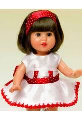 Mini Vestido Shantu Blanco y Rojo