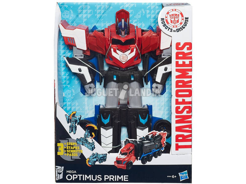Transformers Mega Paso Optimus Prime