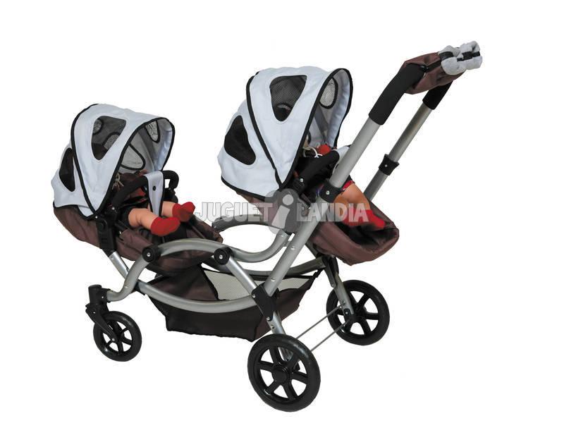 Coche y silla gemelar juguetilandia for Coche con silla de auto
