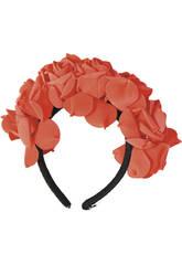 Diadème Katrina Roses Rouges Fête des morts