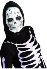 Masque Tête de Mort Souriante avec capuche Rubies S5090