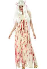 imagen Disfraz Novia Muerta Sangre Mujer Talla XL