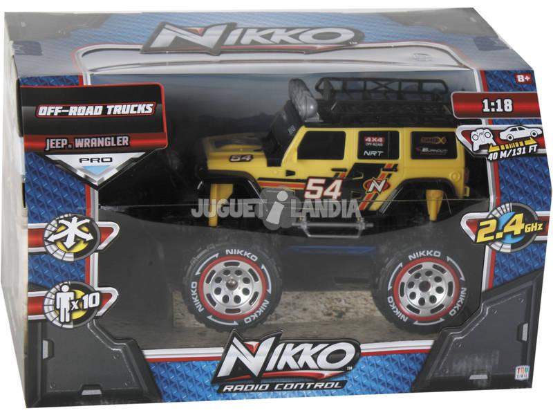 Rádio Controlo 1:18 Jeep Wrangler Nikko 94173