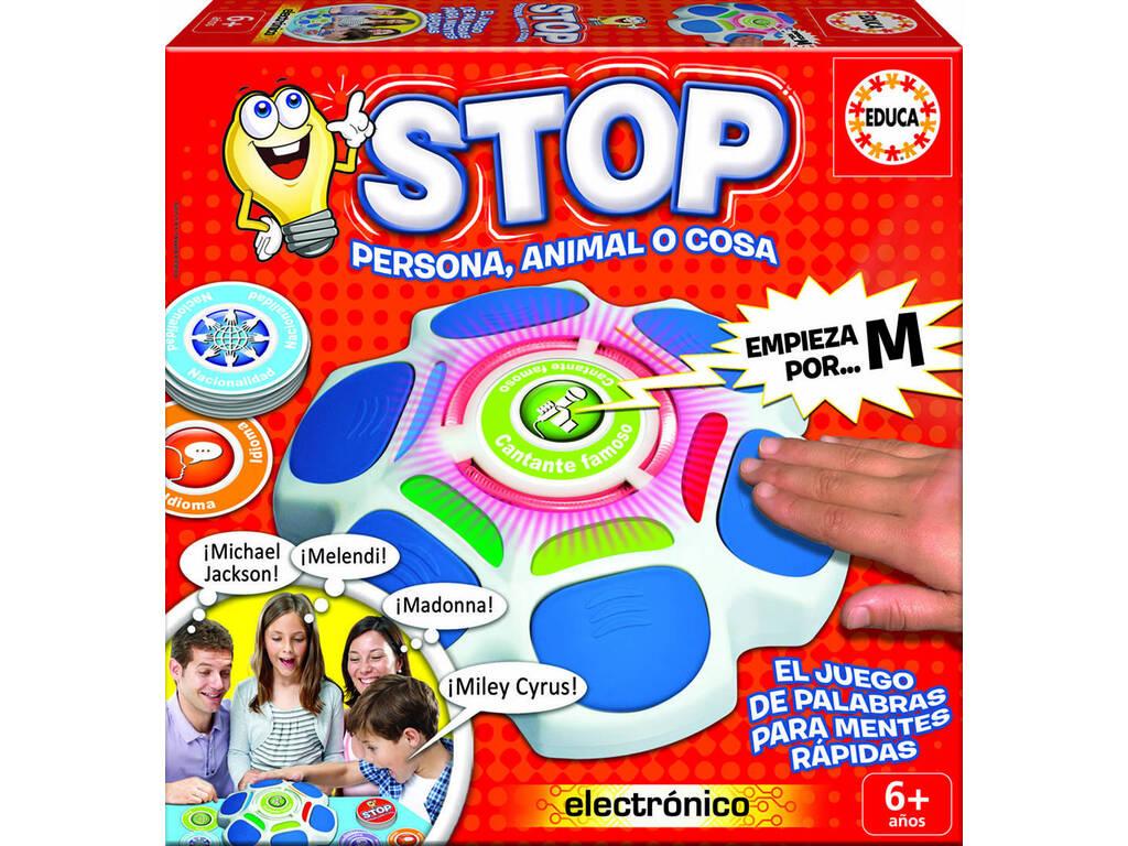 Jogo de Tabuleiro Stop Pessoa Animal ou Coisa Educa 16589