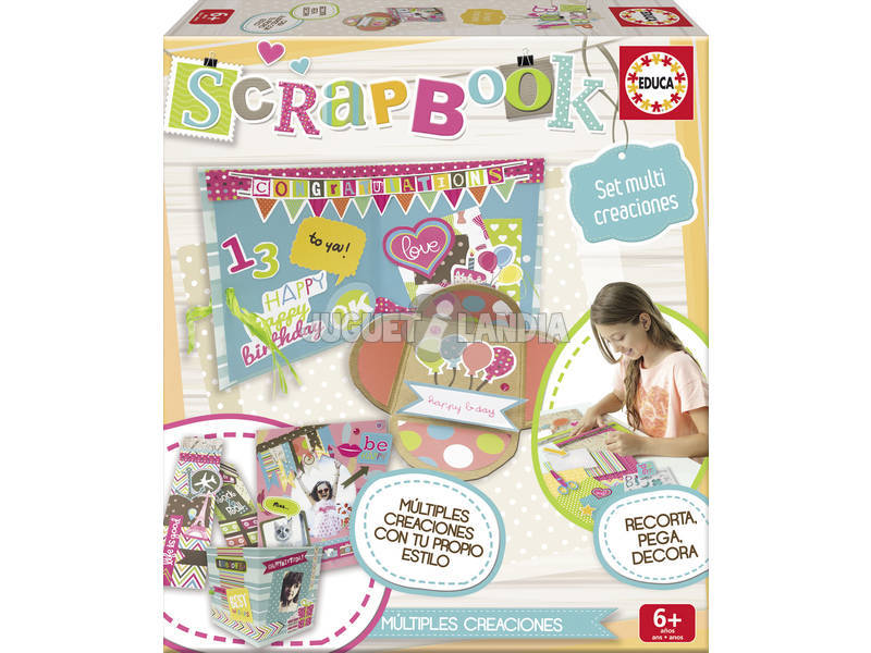 Multiset Scrapbook Educa Manualidades 16569