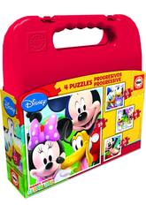 Puzzle Progresivos Mickey Mouse 12-16-20-25 Educa 16505