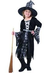 Disfraz Bruja Araña Plateada Niña Talla L