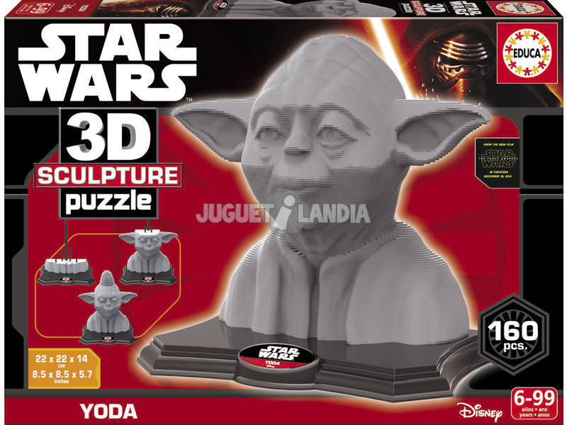 Puzzle 3D Sculpture Yoda Educa 16501