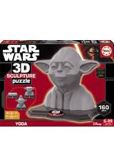 Puzzle 3D Sculpture Yoda Educa 16501