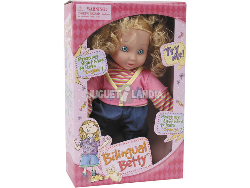 Bambola Betty 35cm. bilingue