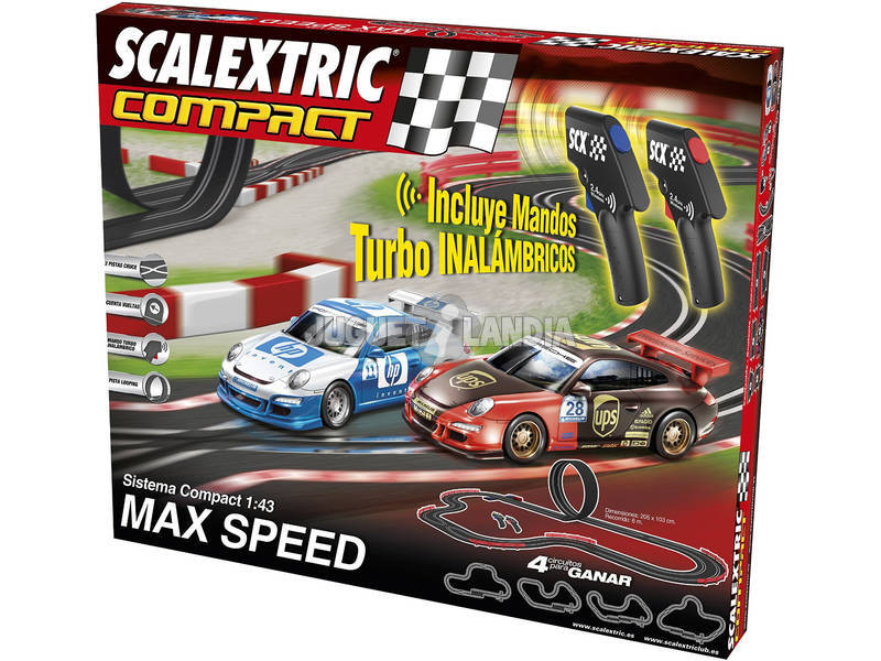 Scalextric Circuito Compact Max Speed Inalámbrico