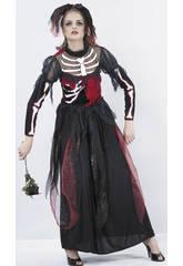 imagen Disfraz Novia Esqueleto Mujer Talla XL