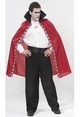 Maschera Mantello Rosso Vampiro Uomo Taglia XL