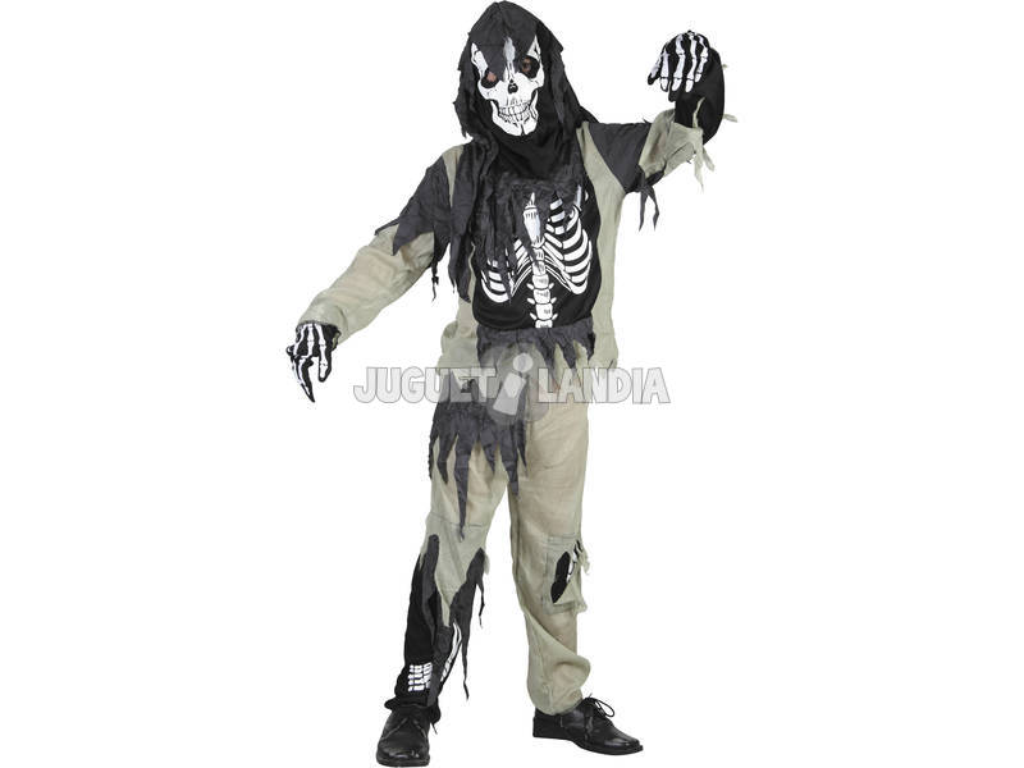 Disfraz Niños S Esqueleto Zombi