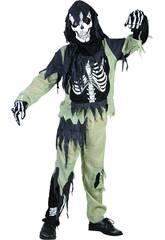Costume Scheletro Zombi Bimbo M