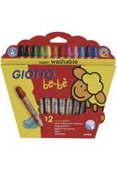 Giotto Bebe Super Crayons de couleur avec Taille-Crayon