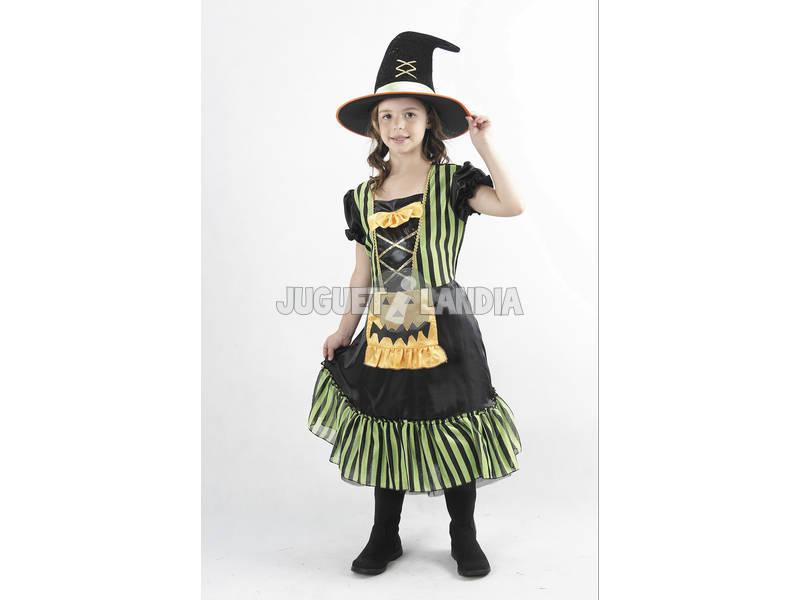 Disfraz Bruja Calabaza Verde Niña Talla S