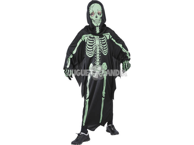 Tamanho de traje infantil esqueleto 3D L