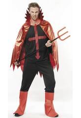 Maschera Lucifero Malvagio Uomo Taglia XL