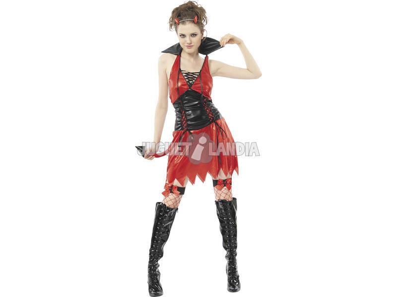 Fantasia Demônio Sexy Mulher Vermelha Tamanho XL