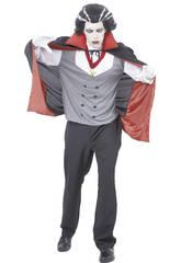 imagen Disfraz Vampiro Con Capa Hombre Talla XL