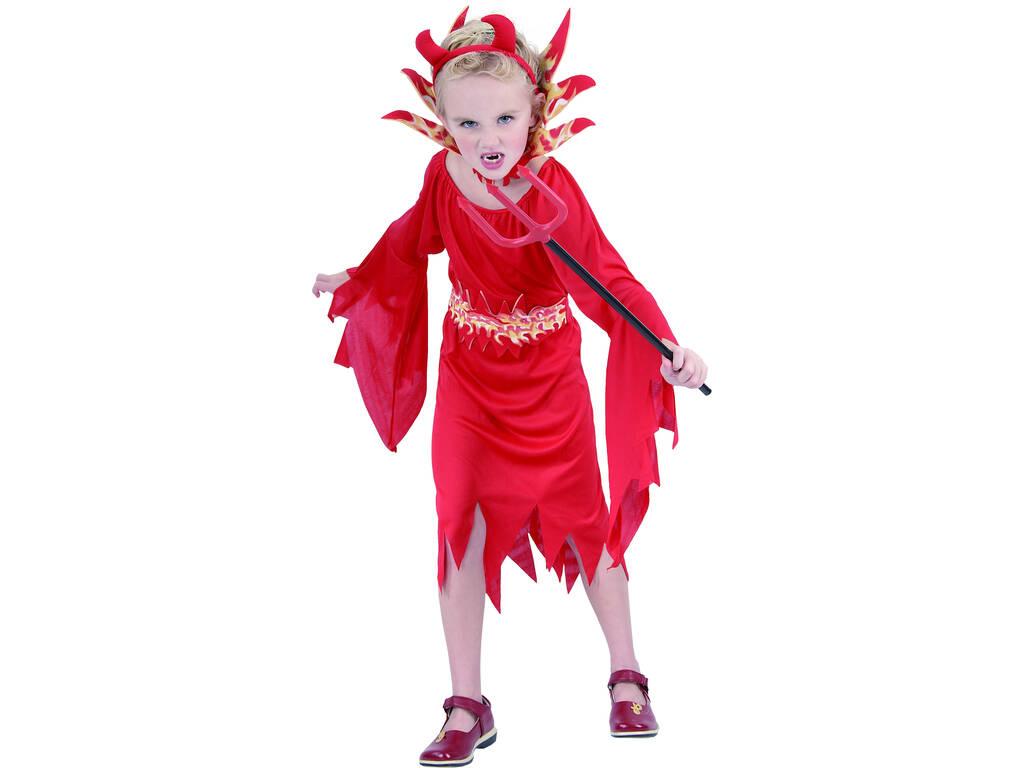 Disfraz Demonia Malvada Niña Talla L