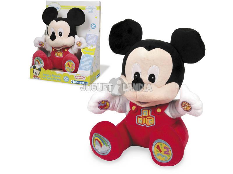 Brinquedo De Pelúcia Mickey Interativo Do Bebê