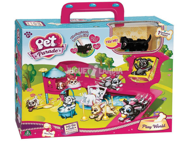 Pet Parade Playset con 1 Cachorro