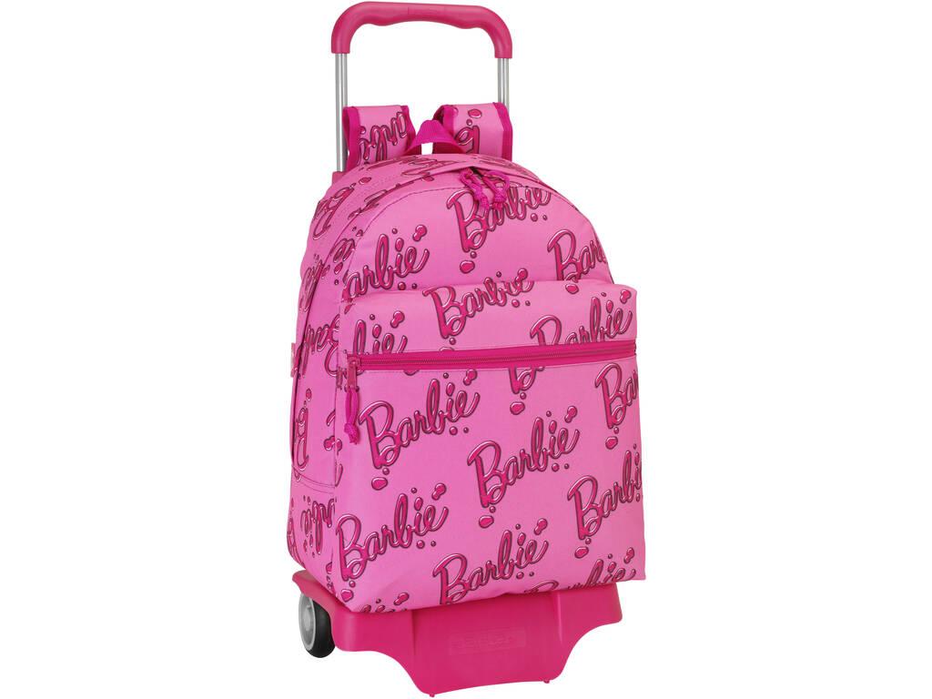 Mochila Grande com Rodas Barbie Logomania