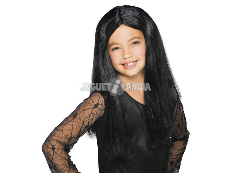 Peluca Infantil Bruxa Negra Rubies S1510